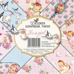 Decorer It's a Girl 6x6 Inch Paper Pack (DECOR-C27-230)