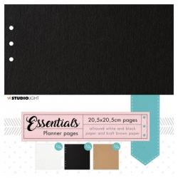Studio Light • Essentials planner pages Black, Craft & White nr.02