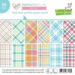 Lawn Fawn Perfectly Plaid Remix 6x6 Inch Petite Paper Pad