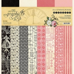 Graphic 45 Elegance 12x12 Inch Patterns & Solids Paper Pad
