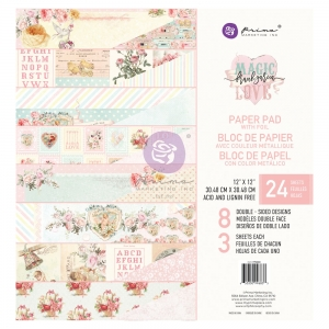 Prima Marketing Magic Love 12x12 Inch Paper Pad