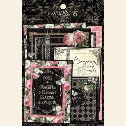 Graphic 45 Elegance Ephemera & Journaling Cards