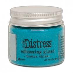 Ranger • Distress embossing glaze Broken china