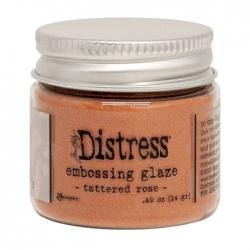 Ranger • Distress embossing glaze Tattered rose