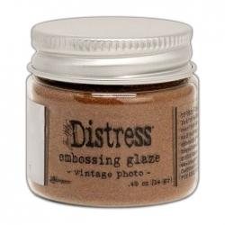 Ranger • Distress embossing glaze Vintage photo