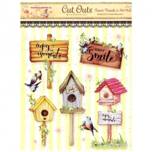 Memory Place Forest Friends 2 Nest Box Cut Outs