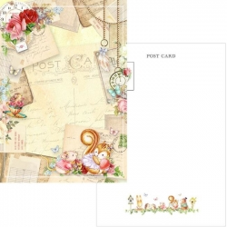 Memory Place Forest Friends Letters Postcard