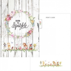 Memory Place Forest Friends Born to Sparkle Postcard