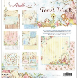 Memory Place Forest Friends 12x12 Inch Paper Pack