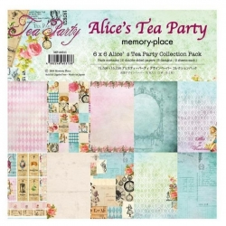 Memory Place Alice's Tea Party 6x6 Inch Paper Pack