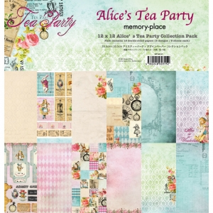 Memory Place Alice's Tea Party 12x12 Inch Paper Pack