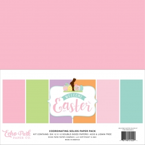 Echo Park Welcome Easter 12x12 Inch Coordinating Solids Paper Pack