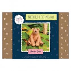 Simply Make Needle Felting Kit Brown Bear
