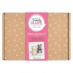 Simply Make Needle Felting Kit Mice