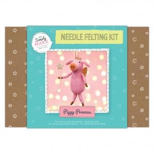 Simply Make Needle Felting Kit Piggy Princess