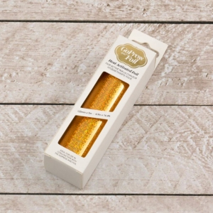 Couture Creations Heat Activated Foil Gold Iridescent Speckled Finish