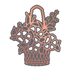 Couture Creations Lavish Ballroom Cut, Foil & Emboss Die Flower Basket (CO725903)