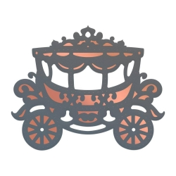 Couture Creations Lavish Ballroom Cut, Foil & Emboss Die Gorgeous Carriage (CO725907)
