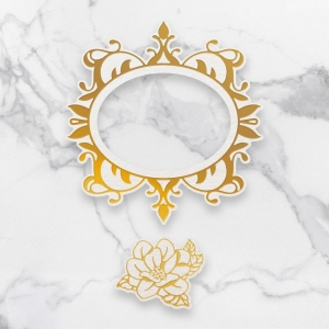Couture Creations Magnolia Frames Cut, Foil & Emboss Die