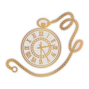 Couture Creations Pocket Watch Cut, Foil and Emboss Die