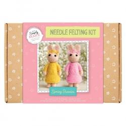 Simply Make Needle Felting Kit Spring Bunnies (DSM 106076)
