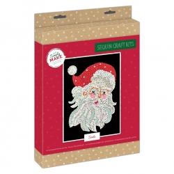 Simply Make Sequin Art Kit Christmas Santa (DSM 105157)