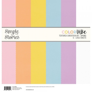 Simple Stories Color Vibe Textured Cardstock 12x12 Inch Spring