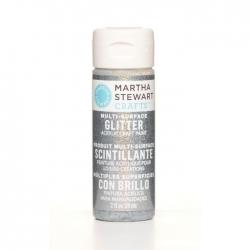 Martha Stewart • Verf 59ml glitter Sterling