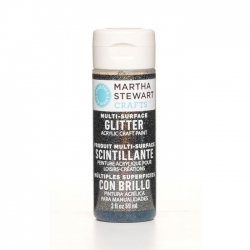 Martha Stewart • Verf 59ml glitter Onyx