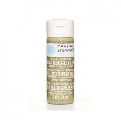 Martha Stewart • Verf 59ml coarse glitter Florentine gold