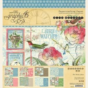 Graphic 45 Bird Watcher 8x8 Inch Paper Pad