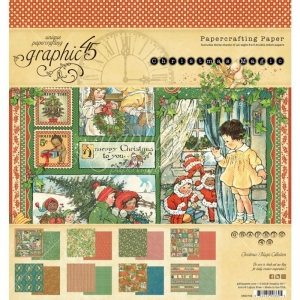 Graphic 45 Christmas Magic 8x8 Inch Paper Pad
