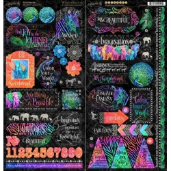 Graphic 45 Kaleidoscope 12x12 Inch Paper Pack losse bladen