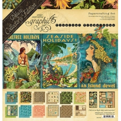 Graphic 45 Tropical Travelogue 12x12 Inch Deluxe Collectors Edition