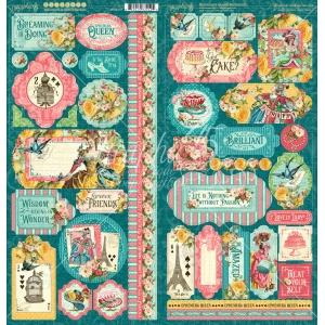 Graphic 45 Ephemera Queen Stickers (4502107) Cover-weight