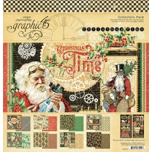 Graphic 45 Christmas Time 12x12 Inch Collection Pack