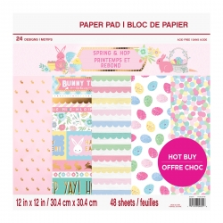 Craft Smith Spring & Hop 12x12 Inch Paper Pad