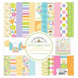 Doodlebug Design Simply Spring 12x12 Inch Paper Pack (842715062788)