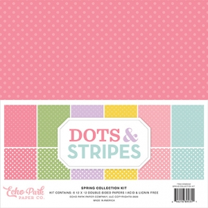 Echo Park Dots & Stripes Spring 12x12 Inch Collection Kit