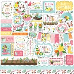 Echo Park I Love Spring 12x12 Inch Element Sticker