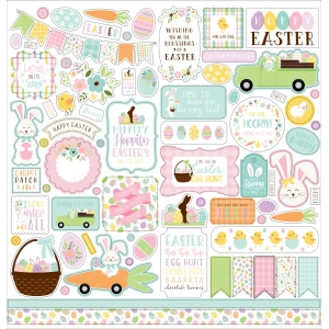 Echo Park Welcome Easter 12x12 Inch Element Sticker