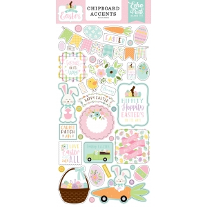 Echo Park Welcome Easter 6x13 Inch Chipboard Accents