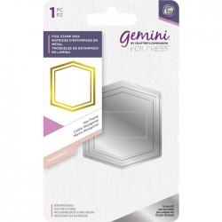 Gemini Hex Frame Monogram Foil Stamp