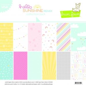 Lawn Fawn Hello Sunshine Remix 12x12 Inch Collection Pack
