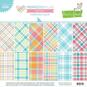Lawn Fawn Perfectly Plaid Remix 12x12 Inch Collection Pack