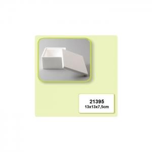 Vaessen Creative • Piepschuim doos glad 13x13x7,5cm