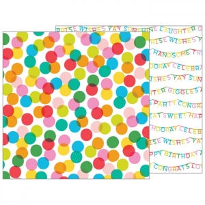Pebbles • Patterned paper happy hooray 30,5x30,5cm Celebrate  1 vel
