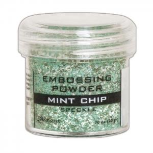 Ranger • Embossing powder speckle mint chip