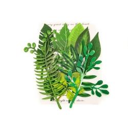 Prima Marketing Leaf Embellishments Evergreen