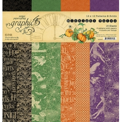 Graphic 45 Midnight Tales 12x12 Inch Patterns & Solids Paper Pad
